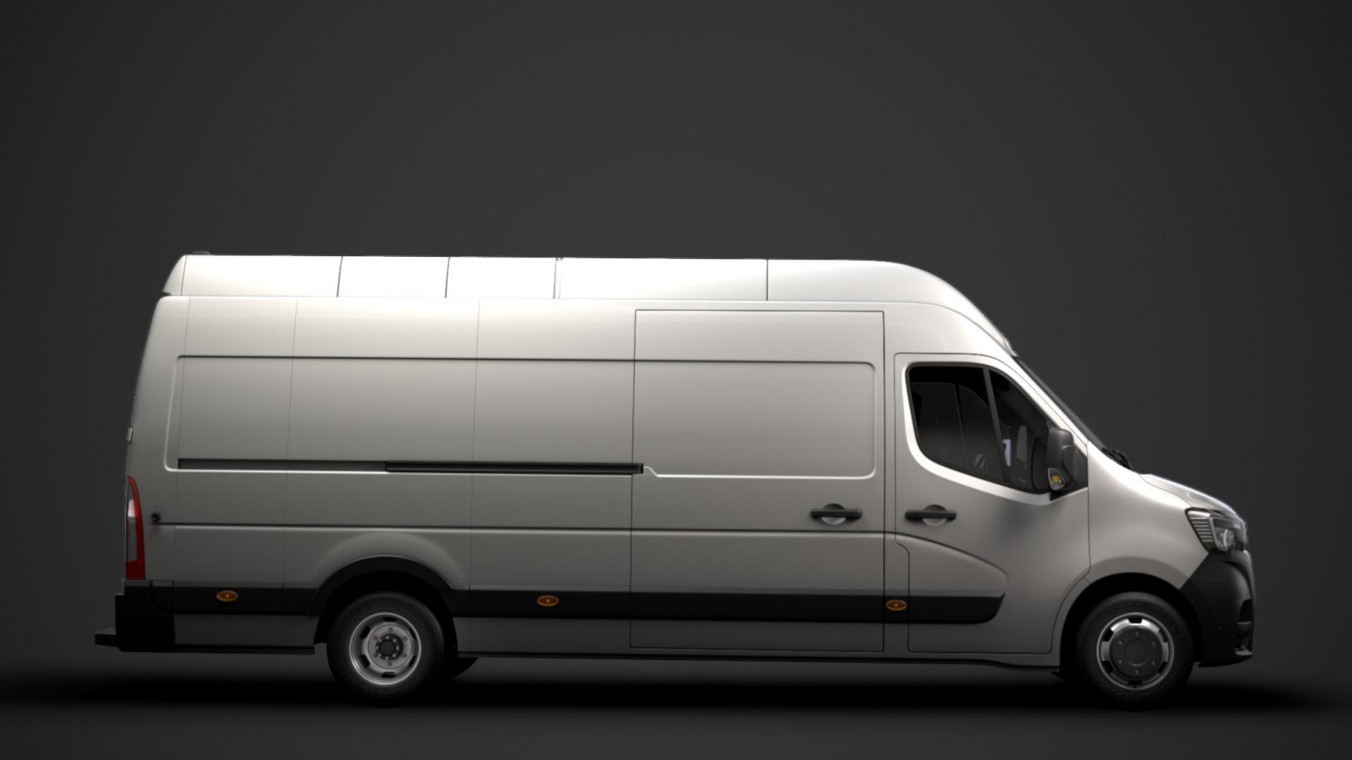 Location d'un utilitaire fourgon maxi surélevé - Renault Master L4H3 15m3 - Vue3