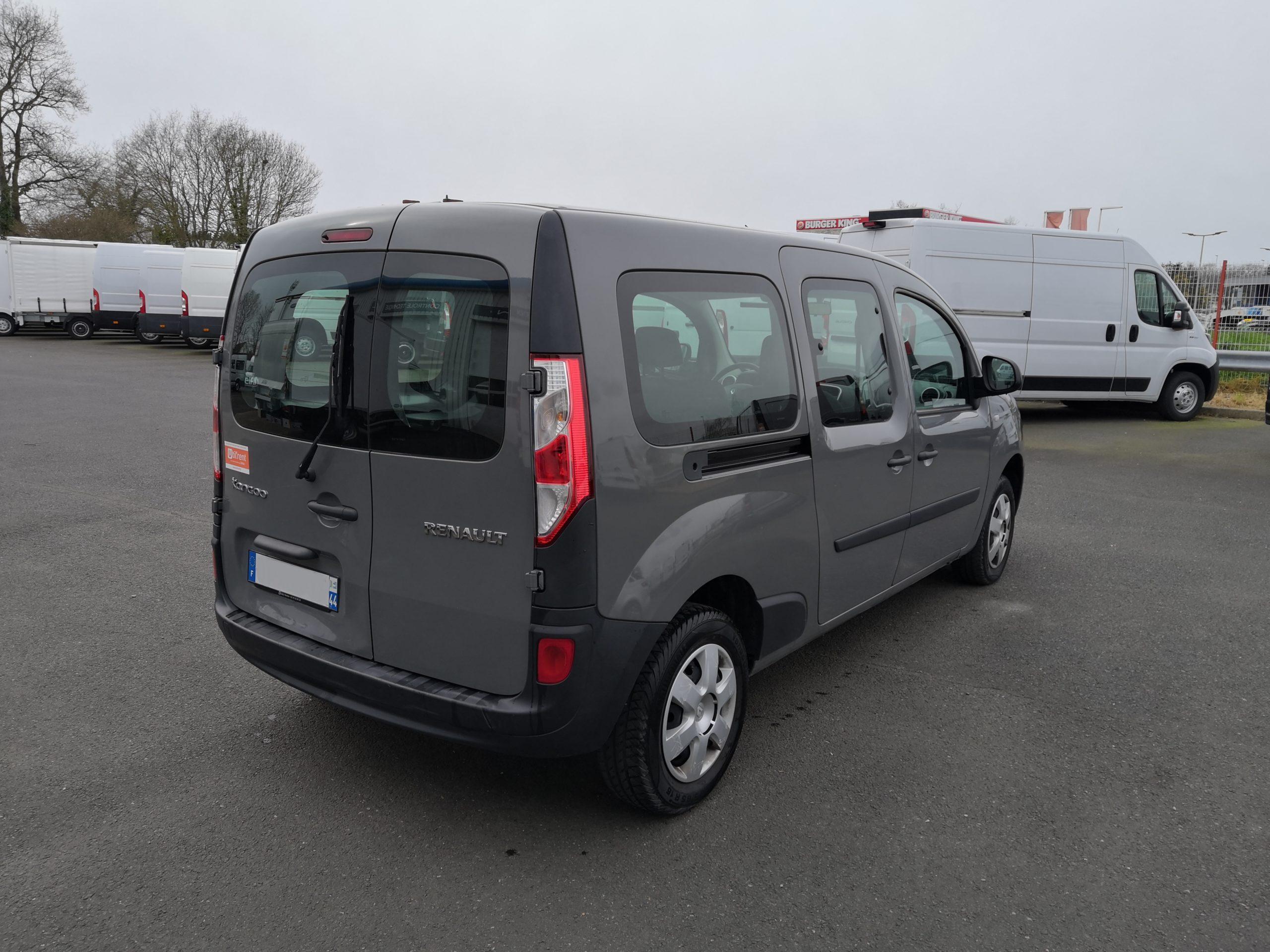 Location d'un utilitaire fourgonnette double cabine - Renault Kangoo -Vue2