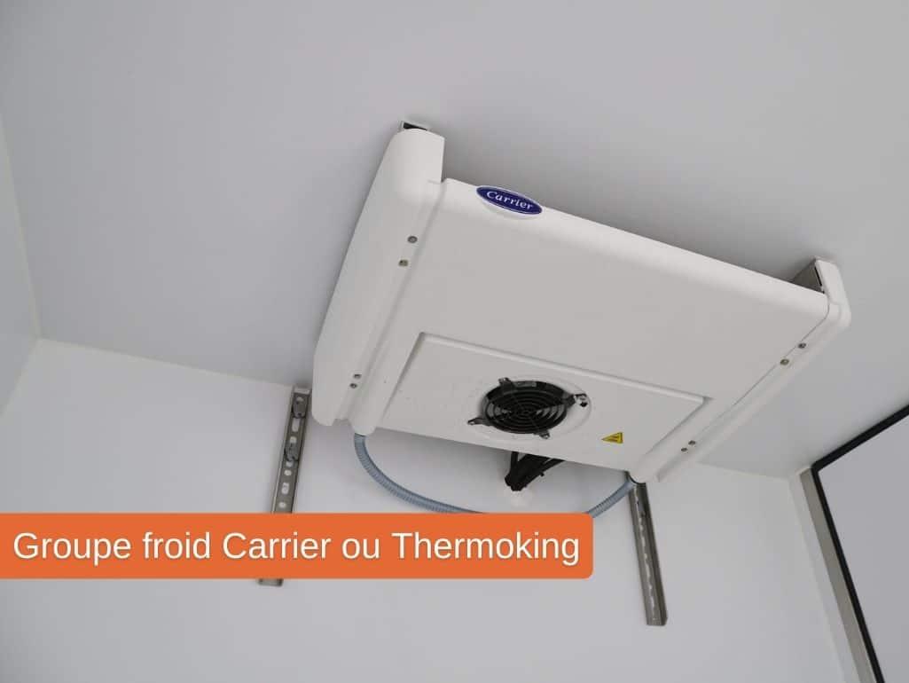 Groupe froid Carrier ou Thermoking pour un véhicule utilitaire frigorifique