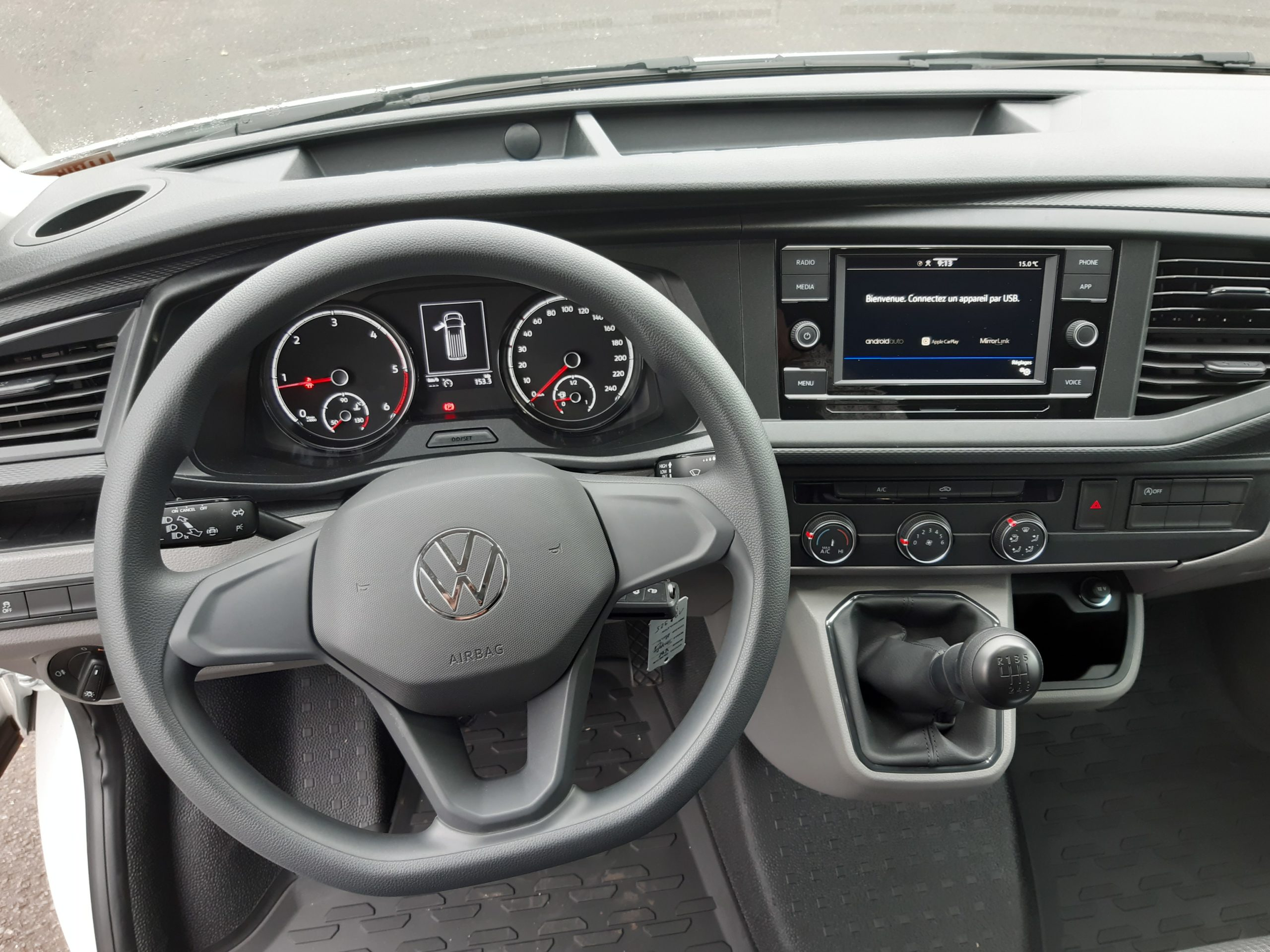 Location d'un fourgon compact double cabine - Volkswagen Transporter T6-1 - Vue8